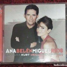 CDs de Música: ANA BELEN Y MIGUEL RIOS (CANTAN A KURT WEILL) 2 CD'S 1999. Lote 263181800