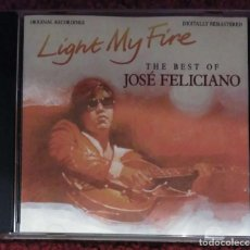 CDs de Música: JOSE FELICIANO (LIGHT MY FIRE - THE BEST OF JOSE FELICIANO) CD 1991 * RARO. Lote 192182538