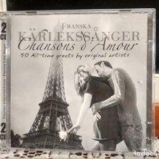 CDs de Música: FRANSKA KARLEKSSANGER 50 CHANSONS AMOUR GREAT BY ORIGINAL ARTISTS DOBLE CD PRECINTADO PEPETO. Lote 192184915