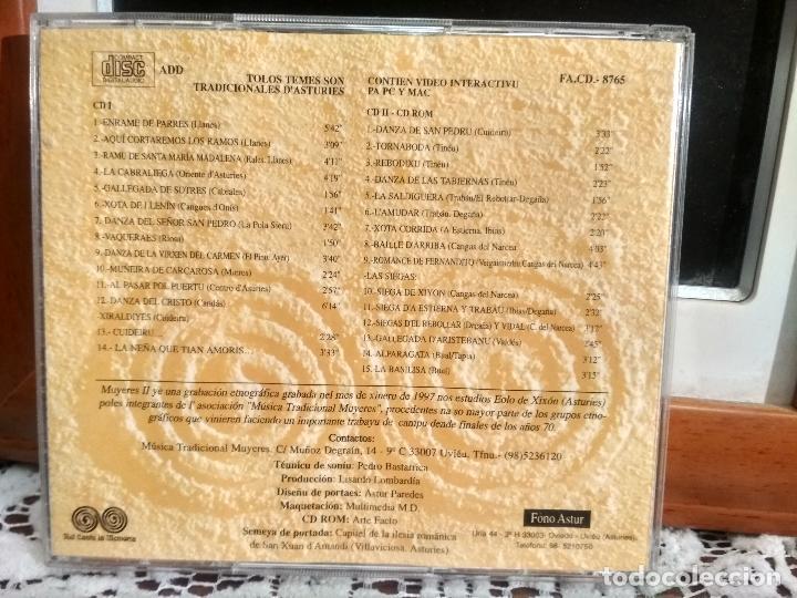 CDs de Música: MUYERES II DOBLE CD DANCES , BAILES, ROMANCES Y CANTARES ASTURIES 1997 ASTURIAS PEPETO - Foto 2 - 192195612