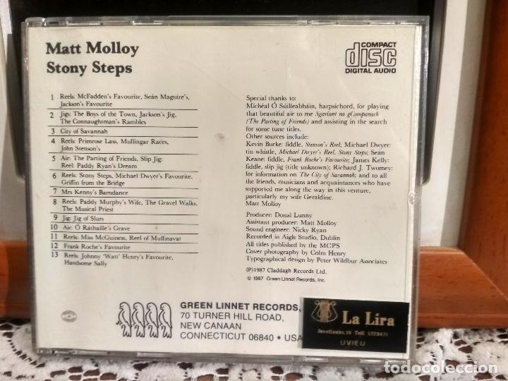 CDs de Música: MATT MOLLOY STONY STEPS CD ALBUM USA 1987 PEPETO - Foto 2 - 192230711
