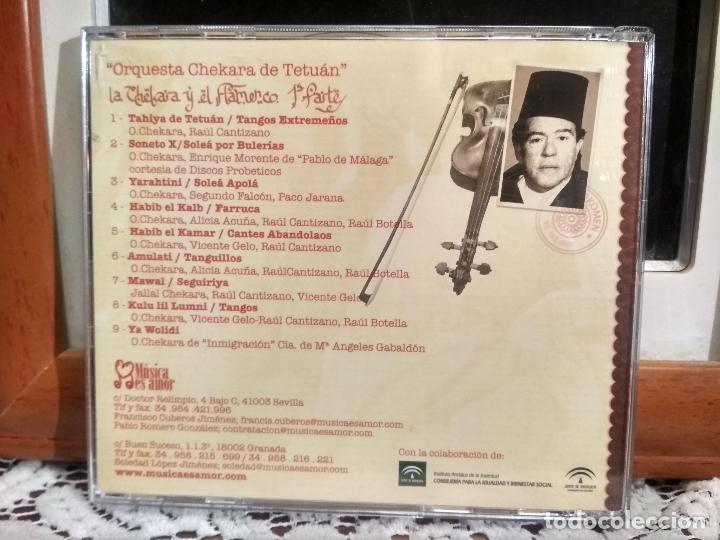 CDs de Música: ORQUESTA CHEKARA DE TETUAN LA CHEKARA Y EL FLAMENCO ENRIQUE MORENTE ,,PACO JARANA CD ALBUM PEPETO - Foto 2 - 192232120