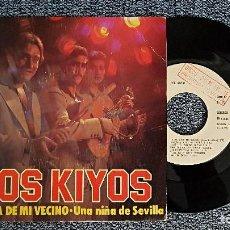 CDs de Música: LOS KIYOS - LA HIJA DE MI VECINO / UNA NIÑA DE SEVILLA. PROMOCIONAL. TROVA RECORDS. AÑO 1.978. Lote 192249815