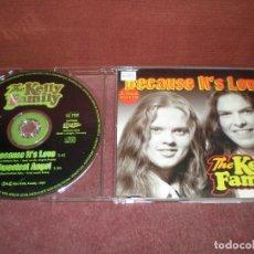 CDs de Música: CD MAXI SINGLE THE KELLY FAMILY / BECAUSE IT'S LOVE - SWEETEST ANGEL 2 TRACKS CAJA FINA PLASTICO. Lote 192292210