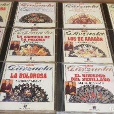 CDs de Música: LOTE DE 12 CDS DE ZARZUELA EN CALIDAD LUJO / CAJAS USADAS.. Lote 240815850