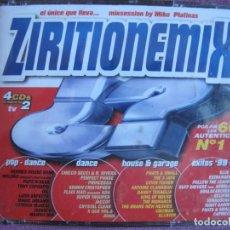 CDs de Música: ZIRITIONEMIX BY MIKE PLATINAS - VARIOS (CAJA CON 4 CD'S, TEMPO MUSIC 1999, PRECINTADA). Lote 262183215