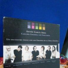 CDs de Música: ANTON GARCÍA ABRIL CANCIÓN ESPAÑOLA DE CONCIERTO 5 CD MÚSICA. Lote 192507345
