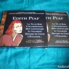 CDs de Música: EDITH PIAF. DEJAVU RETRO GOLD COLLECTION. 2 CD´S DELUXE EDITION. IMPECABLE (#). Lote 192530023