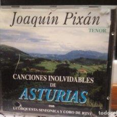CDs de Música: CD JOAQUIN PIXAN - CANCIONES INOLVIDABLES DE ASTURIAS - CON LA ORQUESTA DE RTVE ASTURIAS PEPETO. Lote 192595272
