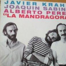 CDs de Música: JAVIER KRAHE JOAQUIN SABINA ALBERTO PEREZ LA MANDRAGORA CD DIGIPACK LIBRETO. Lote 192726885