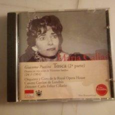 CDs de Música: MARÍA CALLAS. TOSCA. PUCCINI. SEGUNDA PARTE.. Lote 192820600