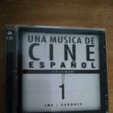 CDs de Música: UNA MÚSICA DE CINE ESPAÑOL, VOL. 1. JMB / CARONTE. VV.AA. DOBLE CD.. Lote 192955302