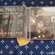 CDs de Música: SINDICATO ARGENTINO DEL HIP HOP LOTE 2 CDS UN PASO A LA ETERNIDAD Y SANGRE SUDOR Y FURIA. Lote 192976298