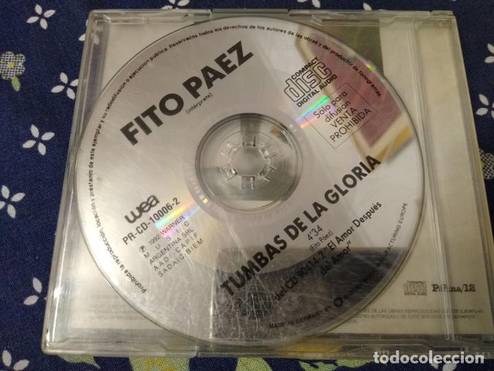 FITO PAEZ CD SINGLE TUMBAS DE LA GLORIA (Música - CD's Rock)