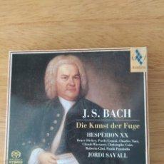 CDs de Música: J. S. BACH: EL ARTE DE LA FUGA (JORDI SAVALL, 2 VOLS.). Lote 193327680