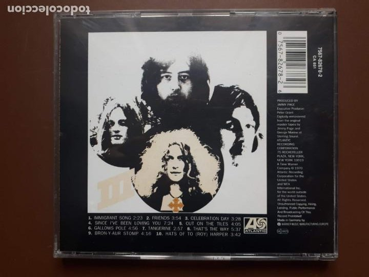CDs de Música: Led Zeppelin - III - CD - Remasterizado - Foto 5 - 156522902