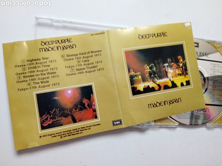 CDs de Música: CD: DEEP PURPLE - Made in Japan (EMI, 2003) - Foto 2 - 193383295