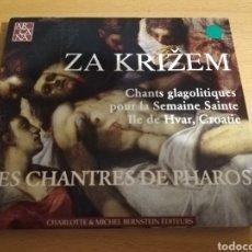 CDs de Música: ZA KRIZEM. CHANTS GLAGOLITIQUES POUR LA SEMAINE SAINTE, CROATIA. LES CHANTRES DE PHAROS (CD). Lote 193447868