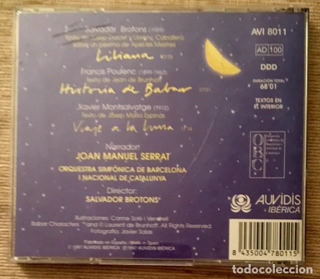 CDs de Música: JOAN MANUEL SERRAT - ORQUESTA SINFÓNICA DE BARCELONA - VIAJE A LA LUNA - Foto 2 - 193549268