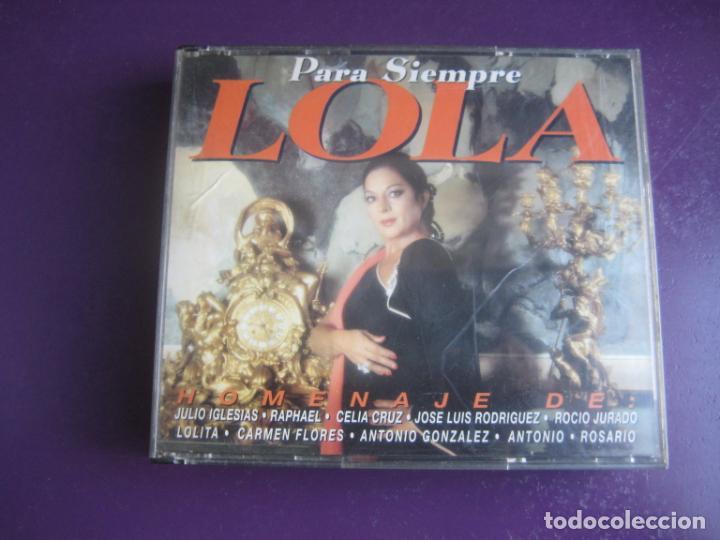 PARA SIEMPRE LOLA FLORES DOBLE CD 1994 SONY - JULIO IGLESIAS - RAPHAEL - 26 TEMAS HOMENAJE (Música - CD's Flamenco, Canción española y Cuplé)