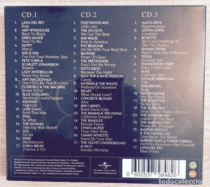 CDs de Música: LADY GAGA, ALICIA KEYS, PATTI SMITH, A WINEHOUSE, CARLA BRUNI, LANA DEL REY... WOMAN - 3 CDs - Foto 2 - 193714808