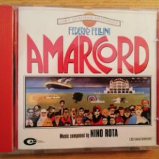 CDs de Música: AMARCORD. FEDERICO FELLINI. BANDA SONORA ORIGINAL NINO ROTA. CAM, ITALIA, 2003.. Lote 193782380