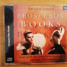 CDs de Música: PROSPERO`S BOOKS. MUSIC FROM THE FILM BY PETER GREENAWAY. MICHAEL NYMAN.. Lote 193782972