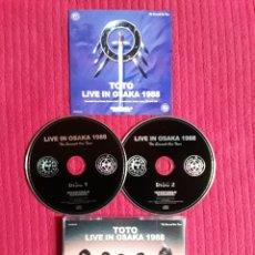 CDs de Música: TOTO: LIVE IN OSAKA 1988. 2CD'S. LIVE AT OSAKA FESTIVAL HALL 20 APRIL 1988,OSAKA, JAPAN.. Lote 193832236