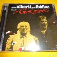 CDs de Música: RAFAEL ALBERTI - PACO IBAÑEZ / A GALOPAR / PDI RECORDS / 2 CD. Lote 193908527