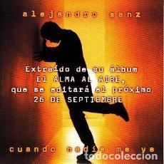 CDs de Música: ALEJANDRO SANZ - CUANDO NADIE ME VE. Lote 193944826