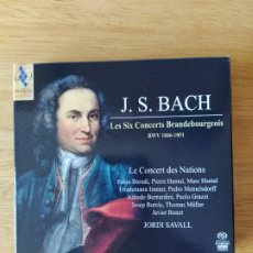 CDs de Música: J.S. BACH: CONCIERTOS DE BRANDENBURGO (JORDI SAVALL, 2 CDS). Lote 194000768