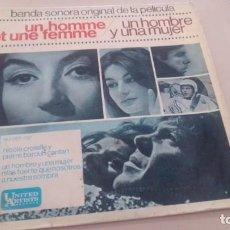 CDs de Música: LOTE B- DISCO VINILO BANDA SONORA CINE UN HOMBRE Y UNA MUJER. Lote 210816246
