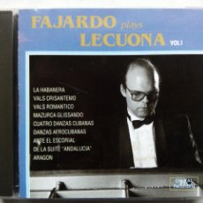 CDs de Música: FAJARDO PLAYS LECUONA. CD SEVERAL RECORDS SCD-804. ESPAÑA 1992. JOSÉ LUIS FAJARDO. ERNESTO LECUONA.. Lote 194072181