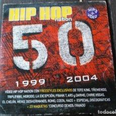 CDs de Música: HIP HOP NATION 50 - CD - CONCURSO DE MAQUETAS. Lote 194185686