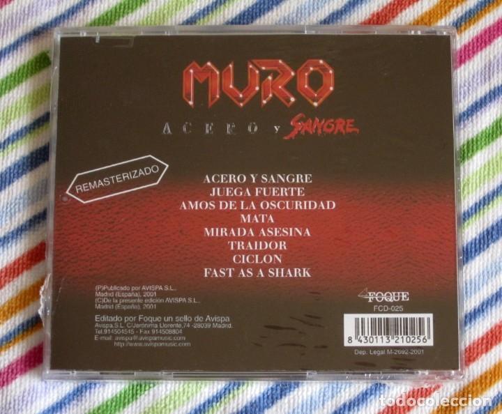 CDs de Música: MURO - ACERO Y SANGRE CD NUEVO Y PRECINTADO - HEAVY METAL - Foto 2 - 194202965