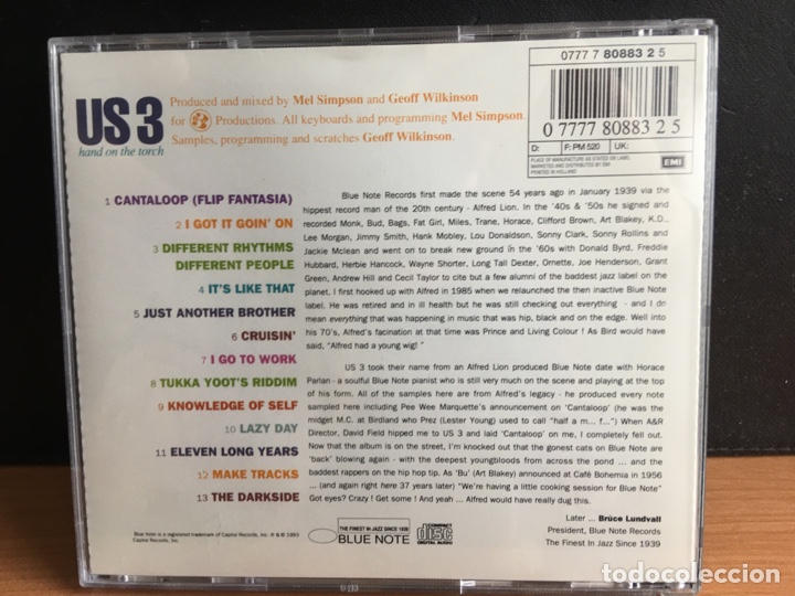 CDs de Música: Us 3 - Hand On The Torch (CD, Album) (D:NM/C:NM) - Foto 2 - 194203036