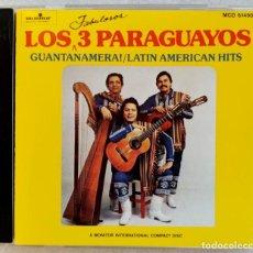 CDs de Música: LOS FABULOSOS 3 PARAGUAYOS - GUANTANAMERA / LATIN AMERICAN HITS - CD US - MONITOR. Lote 194215036