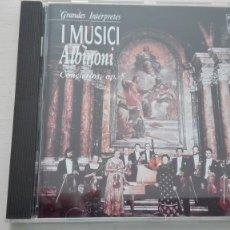 CDs de Música: TOMASO ALBINONI CD CONCIERTOS A CINCO OP. 5 12 PIEZAS PINA CARMIRELLI I MUSICI DDD. Lote 194221106