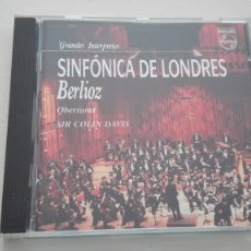 CDs de Música: HÉCTOR BERLIOZ CD OBERTURAS 5 PIEZAS SINFÓNICA DE LONDRES SIR COLIN DAVIS DDD. Lote 194221342