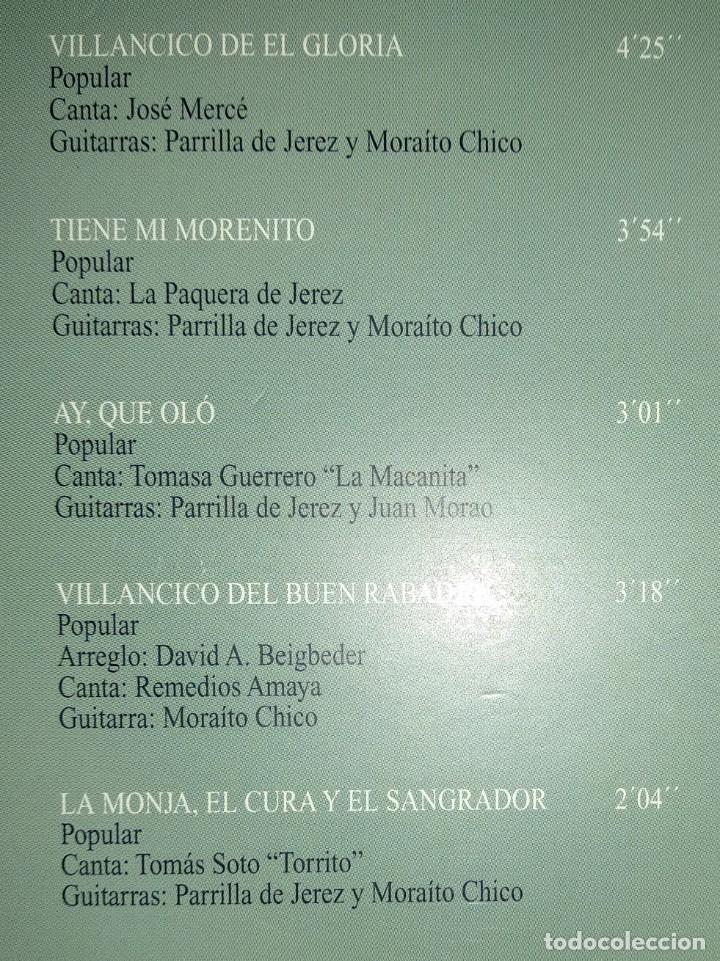 CDs de Música: CD flamenco JOSÉ MERCÉ - FDO DE LA MORENA - PAQUERA JEREZ - MORAITO CHICO - Foto 2 - 194221382
