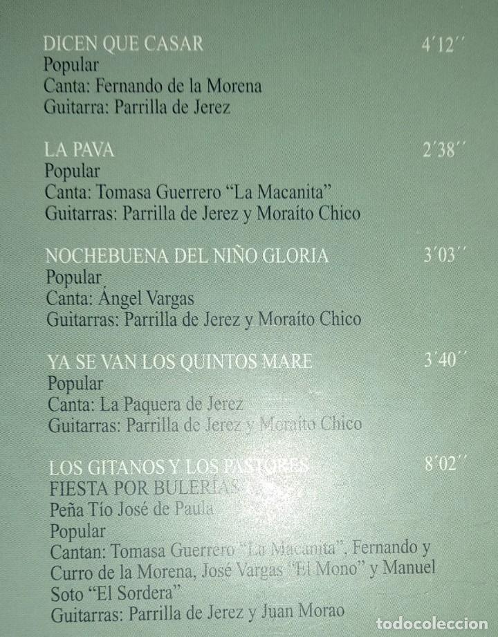 CDs de Música: CD flamenco JOSÉ MERCÉ - FDO DE LA MORENA - PAQUERA JEREZ - MORAITO CHICO - Foto 3 - 194221382