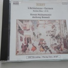 CDs de Música: GEORGES BIZET CD L'ARLÉSIENNE / CARMEN SUITES Nº 1 Y 2 SLOVAK PHILHARMONIC ANTHONY BRAMALL. Lote 194221601