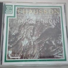 CDs de Música: ERNEST CHAUSSON CD SYMPHONIE OP 20 VIVIANE BASLER SINFONIE ORCHESTER ARMIN JORDAN DDD. Lote 194222987