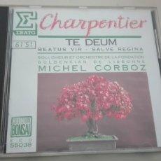 CDs de Música: MARC-ANTOINE CHARPENTIER CD TE DEUM Y OTROS MICHEL CORBOZ. Lote 194223335