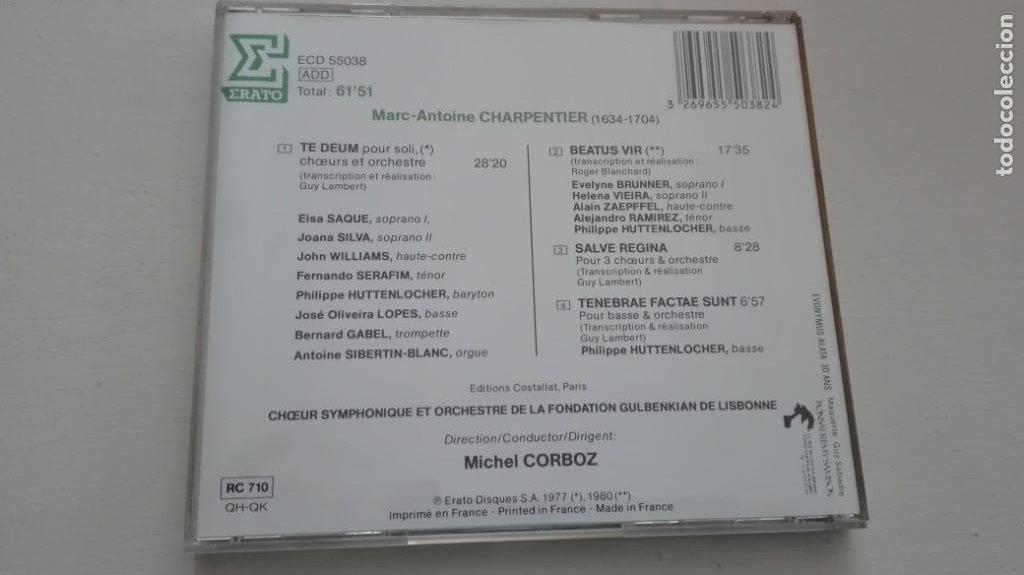 CDs de Música: Marc-Antoine Charpentier CD Te Deum y otros Michel Corboz - Foto 2 - 194223335