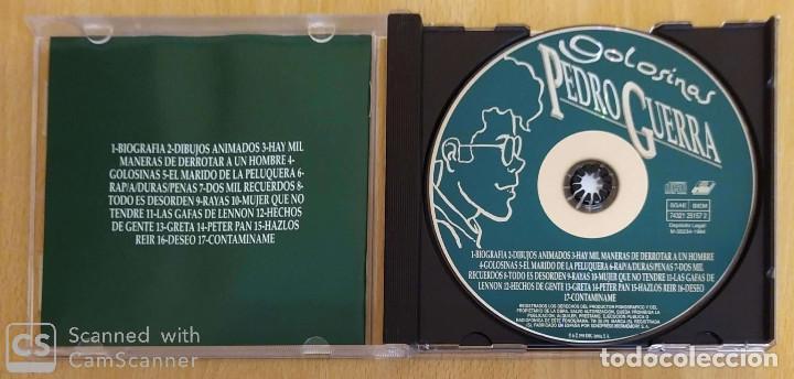 CDs de Música: PEDRO GUERRA (GOLOSINAS - GRABADO EN DIRECTO) CD 1995 - Foto 3 - 194225041