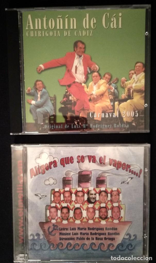 LOTE 2 CD CHIRIGOTAS CARNAVAL CÁDIZ (Música - CD's Otros Estilos)