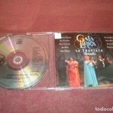 CDs de Música: CD SINGLE PROMO GALA LIRICA LA TRAVIATA / BRINDIS. Lote 194228323