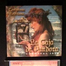 CDs de Música: LOTE 2 CD COMPARSAS LOS DUENDES COLORAOS Y LA CAJA DE PANDORA CARNAVAL CÁDIZ . Lote 194229871