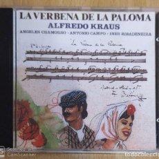 CDs de Música: ALFREDO KRAUS (LA VERBENA DE LA PALOMA) CD 1991. Lote 194232352